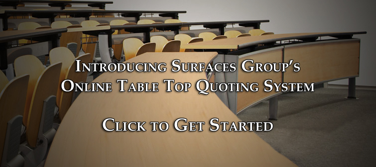 Hanex Solid Surfaces lecture hall tabletops