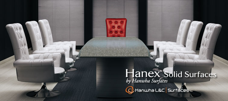 Hanex Solid Surfaces conference table